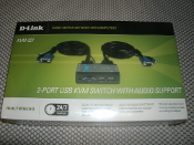 Model No: KVM-221. UPC: 790069296895. D-Link KVM-221 2-Port USB KVM Switch