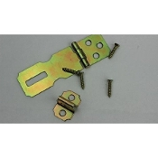 Stanley 819039 Steel Satin Tone Plated Hasp. Hatch. With Screws. New. 81-9039. SP345. 033923000963. Retail package.