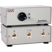 QVS CA284E-2S SureGrip AB Data Switch. New. Category 5. 8 Wire-RJ45F. Commercial Grade. Gold Plated Contacts. 037229328417.
