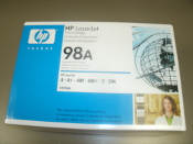 HP Laserjet 98A Print Cartridge. 92298A. OEM. New. HP 4, HP 4+, HP 4M+, HP 5, HP 5M. 1538A011, 088698005668.