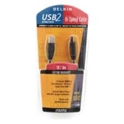 Belkin F3U133-03 USB 2.0 3'/0.9m High Speed Cable. New. Retail package. 40 times faster than USB 1.1. Windows and Mac. 20 gauge conductors. UPC: 722868246962. F3U133-03 U16.