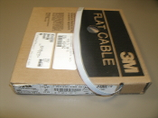 3M 3365/10 Ribbon Cable, Round Conductor Flat, Grey, 10 Conductor, 28 AWG. 100'. New. OEM. 80-6100-5999-2. 00540073005392. 3/M3365/10. 34-7027-0948-5L.