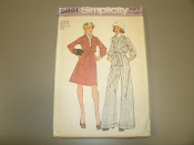 Simplicity 6284 Sewing Pattern. New. Miss. Size 14. Bust: 36. Missws' Unlined Jacket, Vest and Wide-Leg Pants.