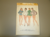Simplicity 5746 Sewing Pattern. New. Miss. Size 14. Bust: 36. Sized for stretch knits only. 12 pieces. Bodysuit.