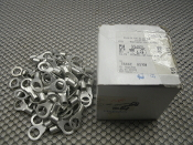 "Tyco 33463 Solistrand Ring Tongue Terminal, Wire Size: 8 AWG, Tin-Plated, Stud Size: 3/8"". A-MP 8*. New."