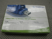 TRENDnet TEW-424UB 54Mbps Wireless 802.11G, 2.0 USB Adapter TEW424UB. 54 Mbps. Supports WPA and 64/128-Bit, New.