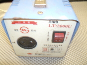 LT Electric LD-2000U 2K step-up transformer. LT:2000U. Used.