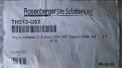 "Rosenberger Site Solutions TH513-U02 Angle Adapters (C Clamps) 3/8"" Tapped 3/8"" Tapped Hole Kit of 10. New."