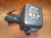 Spec Lin L4D-090100 Class 2 Power Supply. New. Input: 120V, 60Hz, 11.4W. Output: 9Vac, 1000mA. Listed 23DJ, E192841.