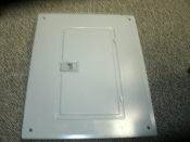 "Square D QOC20U100F Load Center QO Cover Flush. New. This cover is 19"" H x 15 1/2"" W. There are some scratches from long time storage. 40273-830-02."