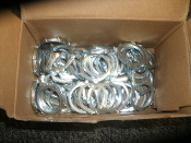 "Bridgeport 103-S Conduit Locknut., 1"". 50 Count. New. Zinc Plated Steel. UL Listed. 3 07 81747 20103 5."