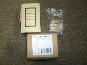 Wattstopper HDLS4SS-2 Quad Dataline Switch. 4 Button. 1 Master. New. 754182102754, 19212rT, Ivory,