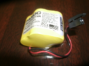 Panasonic Fanuc 2/3AGCT4A 6V Battery. A98L-0031-0025. 2514104135. BR-2/3AG. 2 Wire.