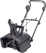 "Mastercraft TY18SE13A Snow Blower. 18"". New. Electric. Scraper clears to the pavement. 13.5-amp motor moves up to 650 lbs. of snow per minute. Instant start, easy push-button switches."