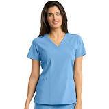 Barco One V-Neck 5105. Ciel Blue. New. Large. Princess Perf Panel. 883884040337. 3131702. 5 Points of Performance Reflective Logo. 4 Way Stretch. Four Pockets and a Back Pocket. PDA Pocket.