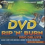 QuickStart DVD RIP n Burn Pro Deluxe. DVD-R is not required. CD-ROM for Windows. Windows XP Compatible. RIP Oversized DVDs to 4.7 GB DVD-R.UPC: 798936830685. P/N: LQRNBDVPDJ.