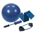 Bally Sculpt and Tone Kit For Pilates. New. BT7737BL. Ball, Pump, Power Bands, Blimmer Belt and DVD. 654602277379.